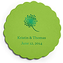 Deluxe Personalized Wedding Coasters - Dandelion