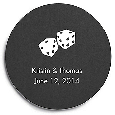 Deluxe Personalized Wedding Coasters - Dice