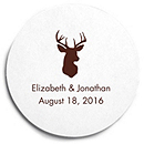 Deluxe Personalized Wedding Coasters - Deer Head