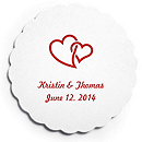 Deluxe Personalized Wedding Coasters - Double Hearts (Interlocking)
