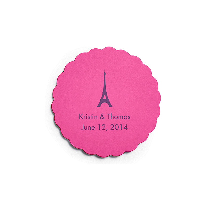 Deluxe Personalized Wedding Coasters - Paris