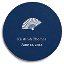 Deluxe Personalized Wedding Coasters - Fan