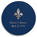 Deluxe Personalized Wedding Coasters - Flourish
