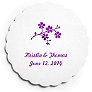 Deluxe Personalized Wedding Coasters - Forget Me Not