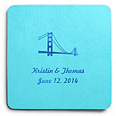 Deluxe Personalized Wedding Coasters - Golden Gate