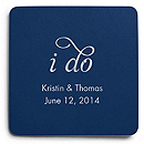 Deluxe Personalized Wedding Coasters - I Do