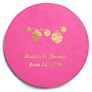 Deluxe Personalized Wedding Coasters - Lanterns