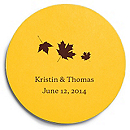 Deluxe Personalized Wedding Coasters - Maple Leaves