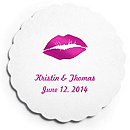 Deluxe Personalized Wedding Coasters - Lips