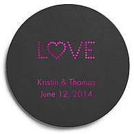 Deluxe Personalized Wedding Coasters - Love