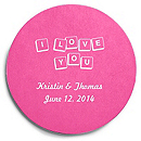 Deluxe Personalized Wedding Coasters - Love Letters