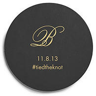 Deluxe Personalized Wedding Coasters - Script Monogram