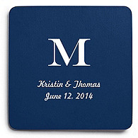 Deluxe Personalized Wedding Coasters - Classic Monogram