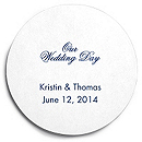 Deluxe Personalized Wedding Coasters - Our Wedding Day