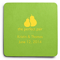 Deluxe Personalized Wedding Coasters - The Perfect Pair