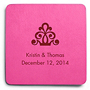 Deluxe Personalized Wedding Coasters - Regal