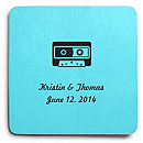 Deluxe Personalized Wedding Coasters - Cassette