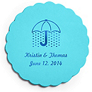 Deluxe Personalized Wedding Coasters - Bridal Shower