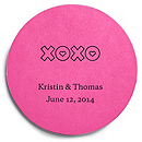 Deluxe Personalized Wedding Coasters - XOXO