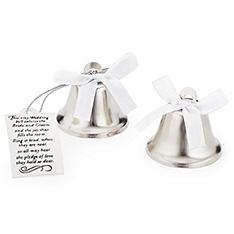 mini kissing wedding bell favors