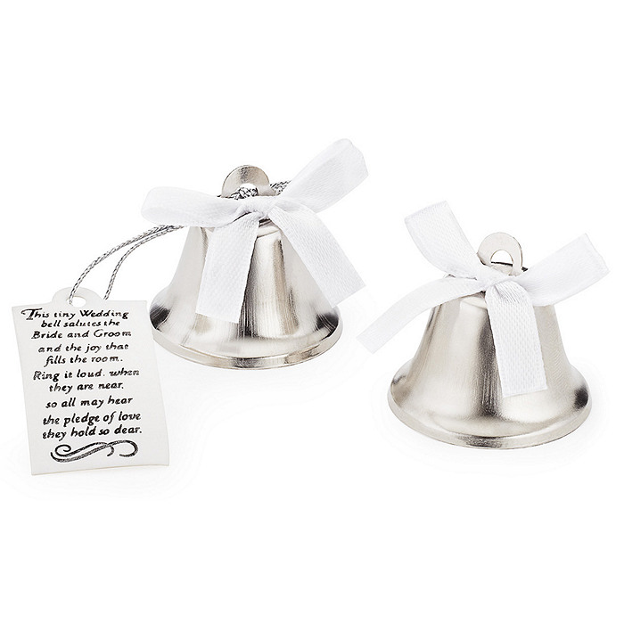 dazzling diamond top wedding bell favors
