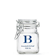 Personalized Glass Jar Favor Holder