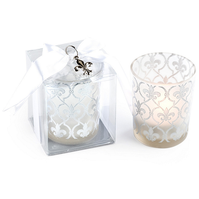 Fleur de lis Tea Light Holder