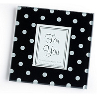 Black and White Polka Dot Photo Coasters