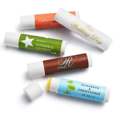 Personalized Lip Balm Tube Favors
