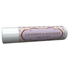 Personalized Lip Balm Tube Favors - Argyle (Lavender)