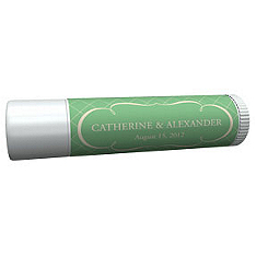 Personalized Lip Balm Tube Favors - Argyle (Mint)