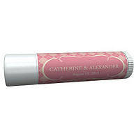 Personalized Lip Balm Tube Favors - Argyle (Pink)