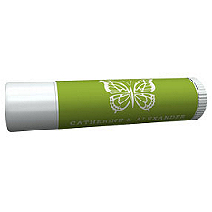 Personalized Lip Balm Tube Favors - Butterfly