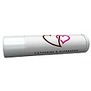 Personalized Lip Balm Tube Favors - Double Heart (Brown)