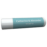 Personalized Lip Balm Tube Favors - Pin Dot (Blue)