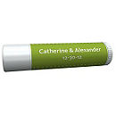 Personalized Lip Balm Tube Favors - Pin Dot (Grass)