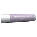 Personalized Lip Balm Tube Favors - Pin Dot (Lavender)