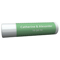 Personalized Lip Balm Tube Favors - Pin Dot (Mint)
