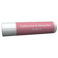 Personalized Lip Balm Tube Favors - Pin Dot (Pink)