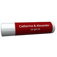 Personalized Lip Balm Tube Favors - Pin Dot (Red)