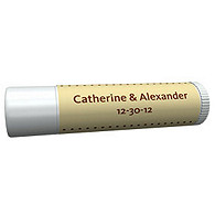 Personalized Lip Balm Tube Favors - Pin Dot (Yellow)
