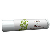 Personalized Lip Balm Tube Favors - Foliage (Grass)