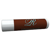 Personalized Lip Balm Tube Favors - Initial (Blue/Brown)