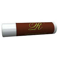 Personalized Lip Balm Tube Favors - Initial (Green/Brown)