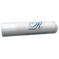 Personalized Lip Balm Tube Favors - Initial (Blue)