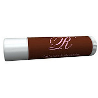Personalized Lip Balm Tube Favors - Initial (Pink/Brown)