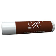 Personalized Lip Balm Tube Favors - Initial (White/Brown)