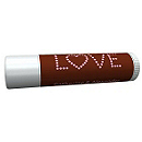 Personalized Lip Balm Tube Favors - Love (Pink/Brown)