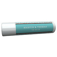 Personalized Lip Balm Tube Favors - Modern (Blue)