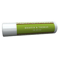 Personalized Lip Balm Tube Favors - Modern (Green)